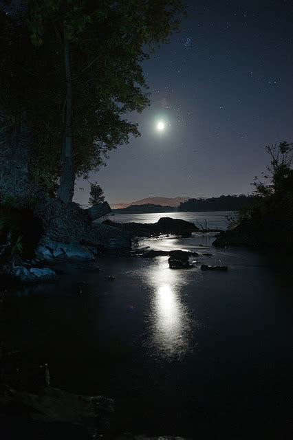 photo night moon sky star night view