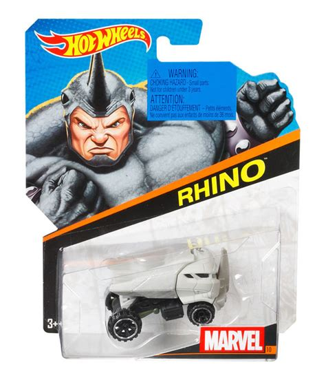 Hot Wheels® Marvel Character Cars  Rhino  Shop Hot