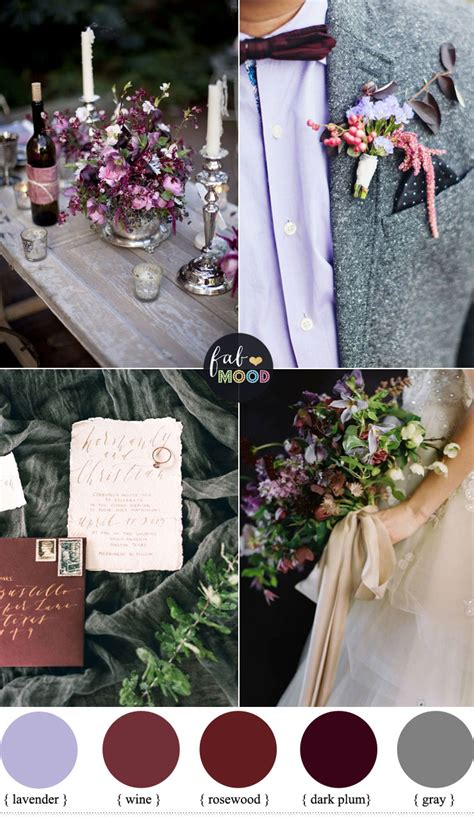 wine decor for plum and wine wedding colors grey