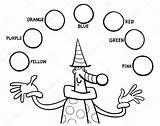 Colores Colorear Primarios Imagenes Pintar Colors Educatieve Hoofdkleuren Kleurplaten Naranja Taak Dibujos Parliament Stockillustratie Objetos Canberra Tarea Coloring Rojo Educativas sketch template