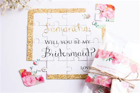 fun  creative ways       bridesmaid