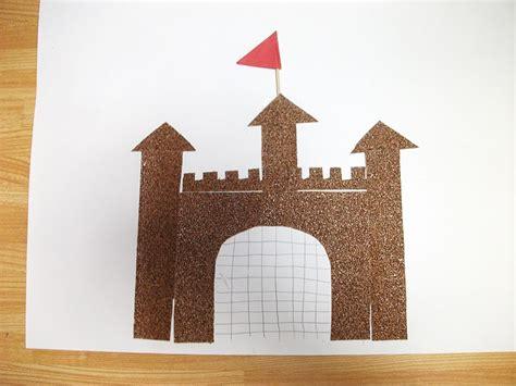 preschool crafts for sand paper sand castle craft 876 | 045