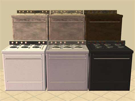 Mod The Sims  Base Game Kitchen Appliance Recolours