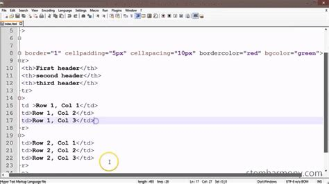 html table background image xhtml css tutorial 13 border color background color