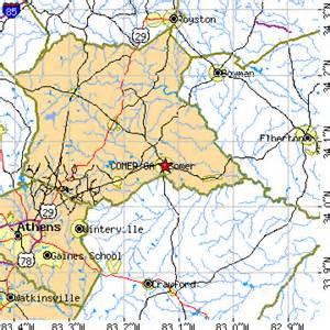 Georgia Colbert GA Map