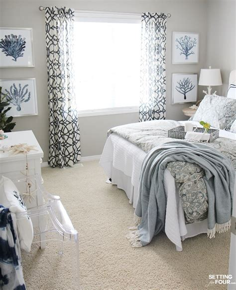 guest bedroom decor ideas guest room refresh bedroom decor setting for four