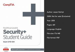The Official Comptia Security  Study Guide  Exam Sy0