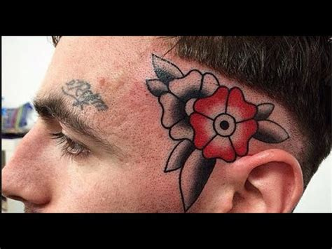 crazy head  face tattoo time lapse neo traditional