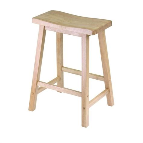 winsome 24 quot counter height saddle beech bar stool ebay