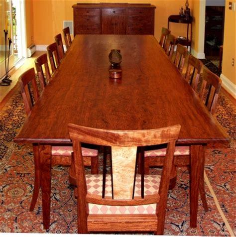 bubinga slab dining table dorset custom furniture