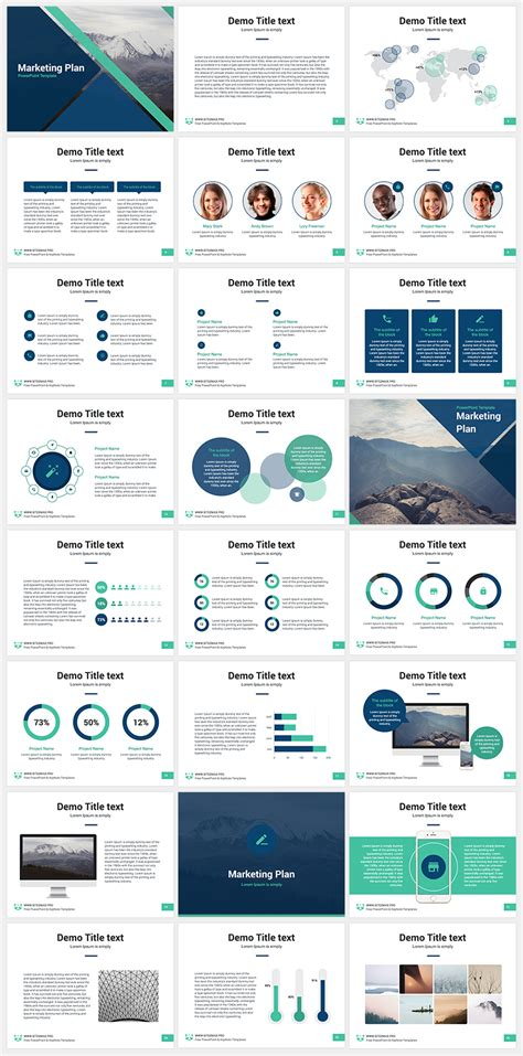 Marketing Plan Free Powerpoint Template  Present  Free