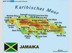 Karte von Jamaika Land Staat WeltAtlasde