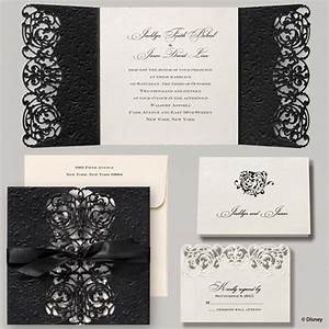 elegant ribbon tied wedding invitation disney fairytale With wedding invitations tied with ribbon