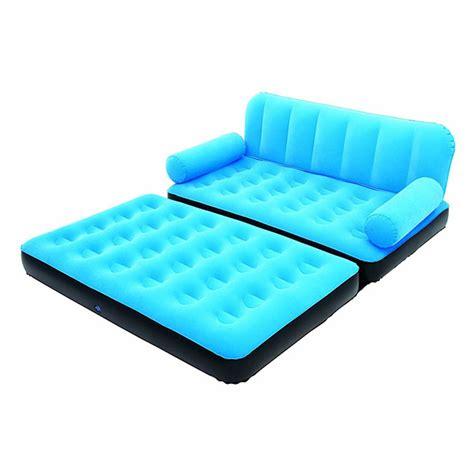 canapé convertible gonflable canapé lit gonflable 4 en 1 bleu pompe incluse maison