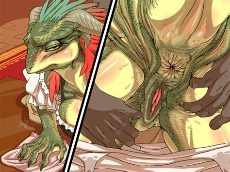rule 34 anthro anus argonian blush breasts close up color cropped disembodied hand duo female
