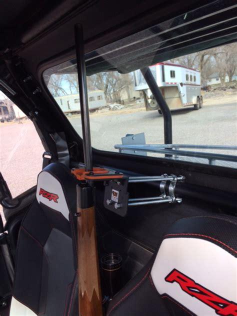 tim mounted  uf utv gun rack    polaris ranger