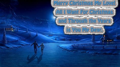 merry christmas my love postcard 1366x768 wallpaper freechristmaswallpapers net