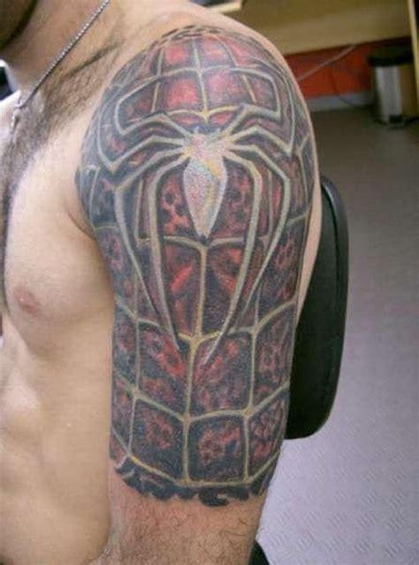 spiderman sleeve tattoos
