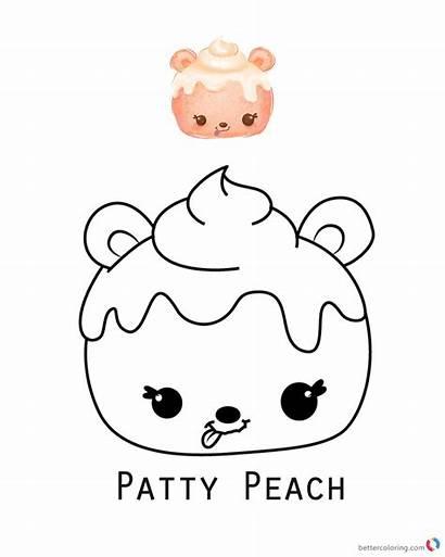 Coloring Num Noms Pages Peach Patty Printable