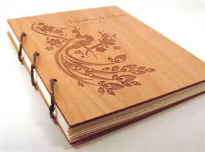 engraved wedding albums wooden wedding guest book photo album large by
