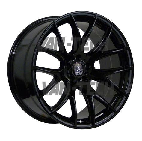 black wheels axe cs lite 20 quot alloy wheels gloss black vw t5 van van
