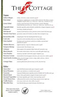 The Cottage Dinner Menu by Dinner Menu Page 1 The Cottage Siesta Key