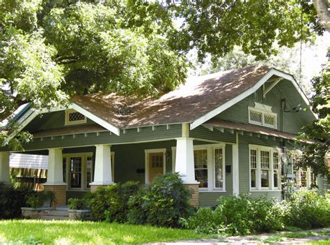 Craftsman Style House Exterior In Fresh Painting — House
