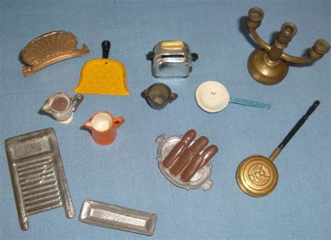 vintage dollhouse doll miniature metal accessories sold on