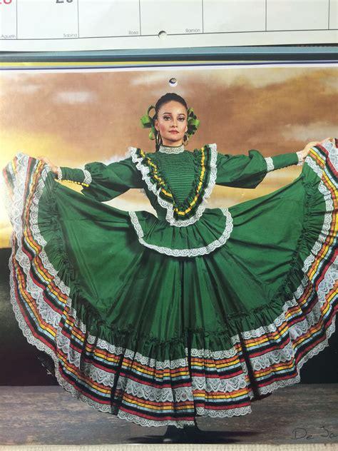 De Jalisco Vestidos mexicanos tradicionales Vestidos