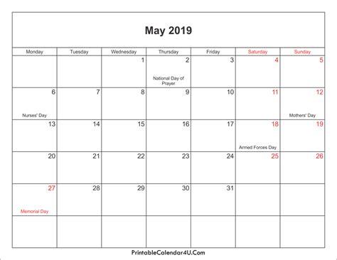 calendar holidays calendar