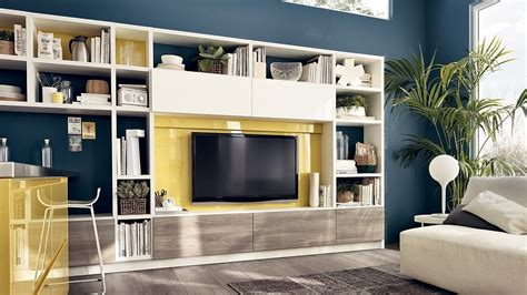 Living Room Storage Solutions by 12 Dynamic Living Room Compositions With Versatile Wall