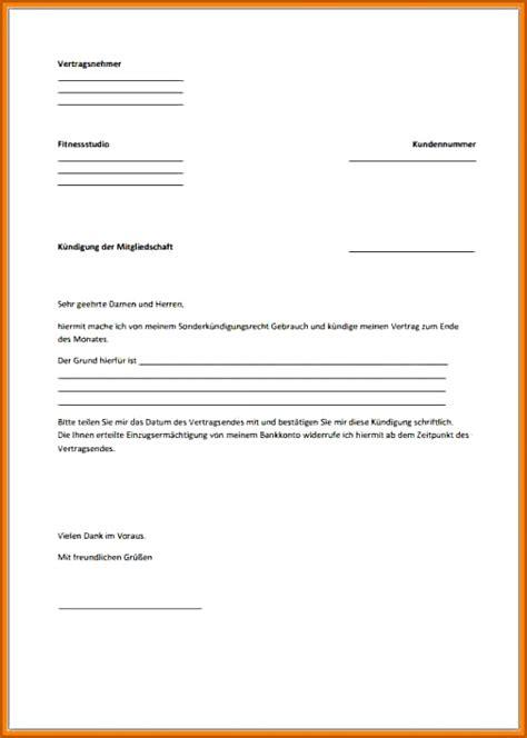 kundigung vorlage word vorlagen vorlagen