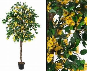 Baum Mit Blüten : kunstlicher baum bougainvillea mit gelben bl ten kaufen ~ Michelbontemps.com Haus und Dekorationen