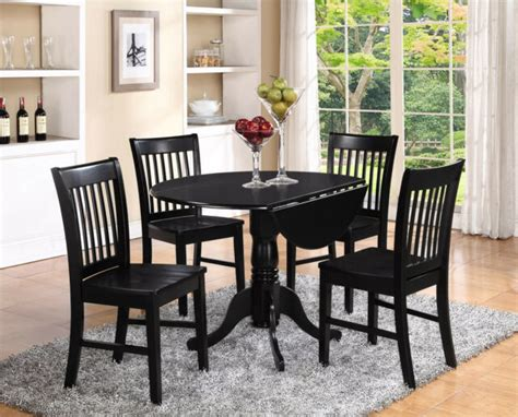 3pc Set Round Dinette Kitchen Dining Table With 2 Wood