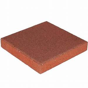 11 7 8 in x 11 7 8 in red concrete step stone 71251 for Home depot garden stones