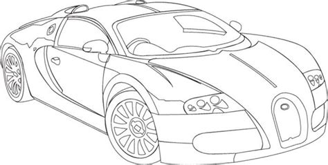 Beautiful Bugatti Veyron Coloring Page