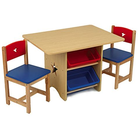Kidkraft Star Table Set With Primary Bins  Chairs & Play