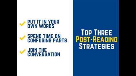 Postreading Strategies Youtube