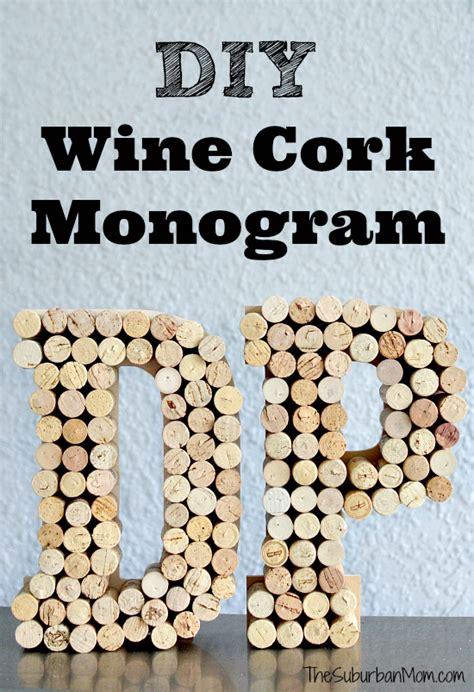 diy wine cork monogram craft thesuburbanmom