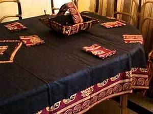 Nappe De Table : nappe lingerie et accessoires de table h l ne design youtube ~ Teatrodelosmanantiales.com Idées de Décoration