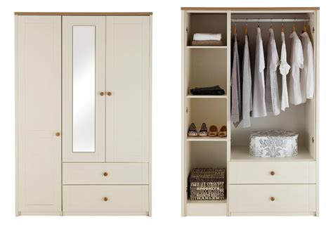 2018 Latest 3 Door Wardrobe With Drawers And Shelves