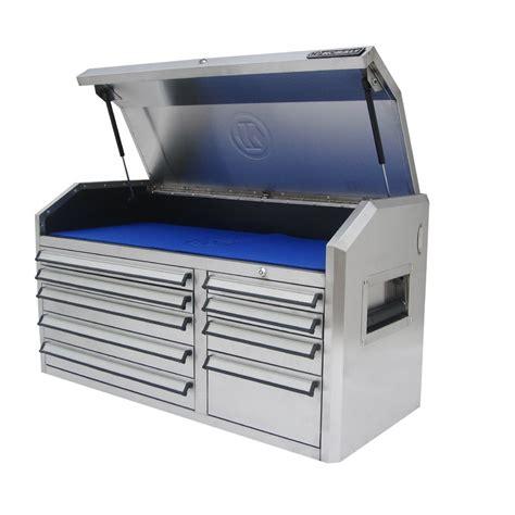 kobalt 9 drawer 41 in stainless steel tool chest