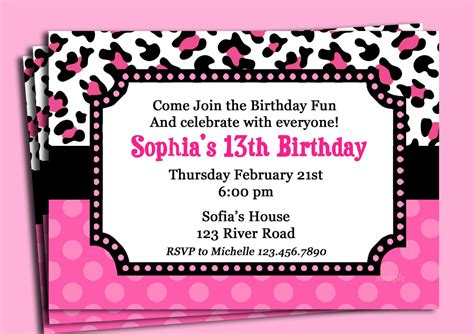 Leopard Print Invitations Templates by Animal Print Invitations Mickey Mouse Invitations