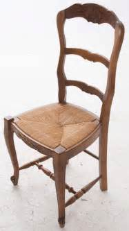 french oak ladder back rush seat chairs set of 6 at 1stdibs