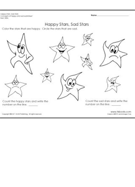 happy and sad worksheet