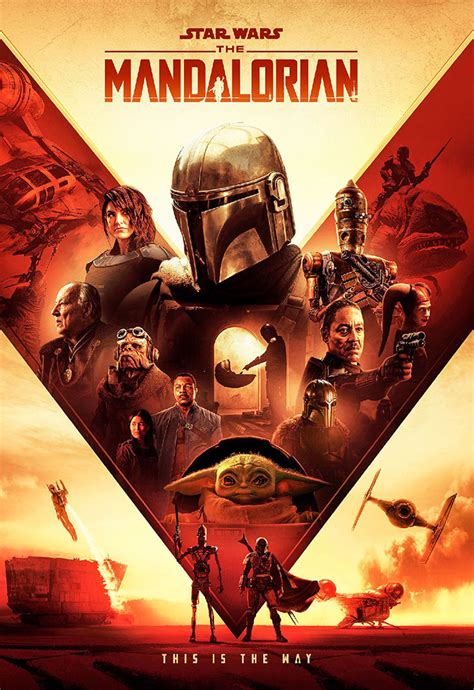 The Mandalorian poster by Claire Curtis : StarWars