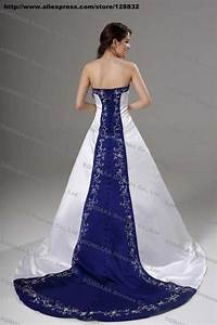 online get cheap royal blue and silver wedding dress With royal blue and silver wedding dresses