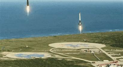 Spacex Heavy Launch Falcon Landing Rocket Space
