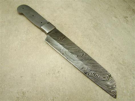 Blank Blade Damascus Chef's Blank Blade Custom Handmade
