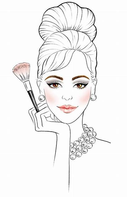 Makeup Sketches Drawing Illustration Sketch Drawings Beauty